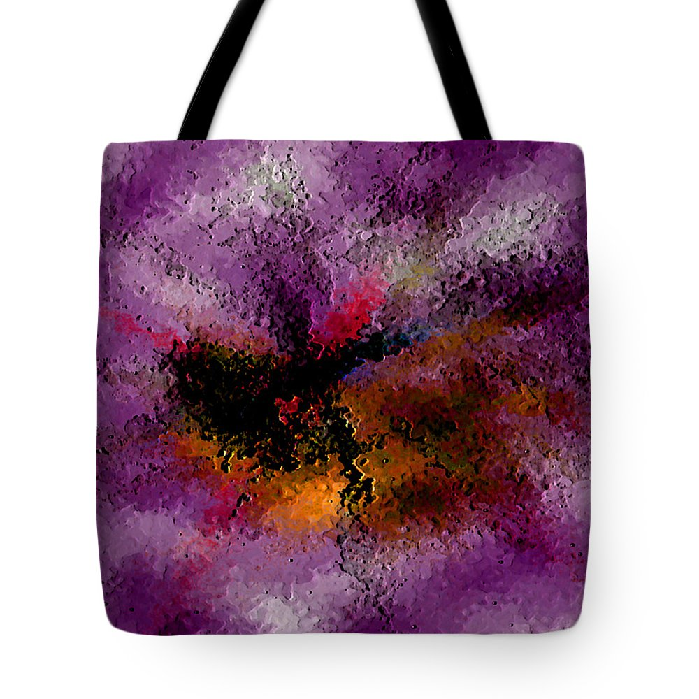 Abstract Tote Bag featuring the digital art Damaged But Not Broken by Ruth Palmer