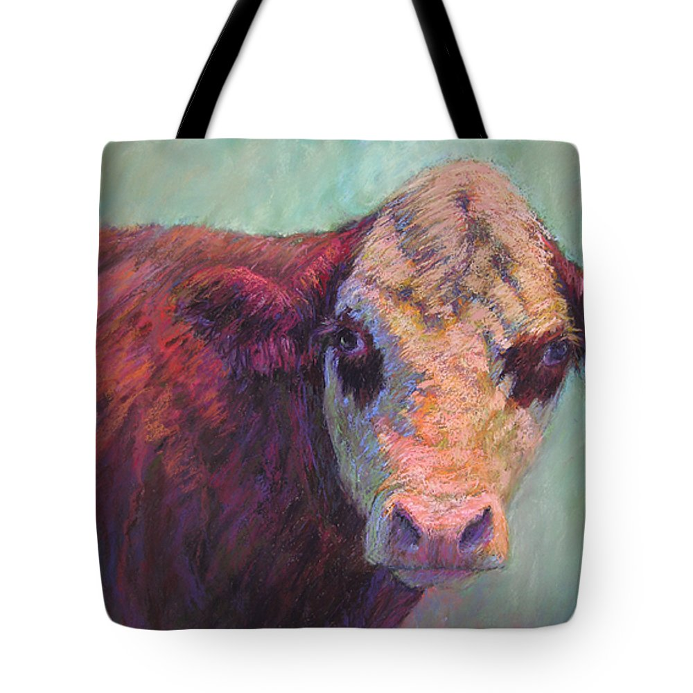 Farm Animals Tote Bag featuring the painting Guardian by Susan Williamson