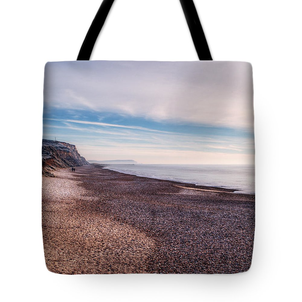 Hengistbury Head Tote Bag featuring the photograph Hengistbury Head And Beach by Chris Day