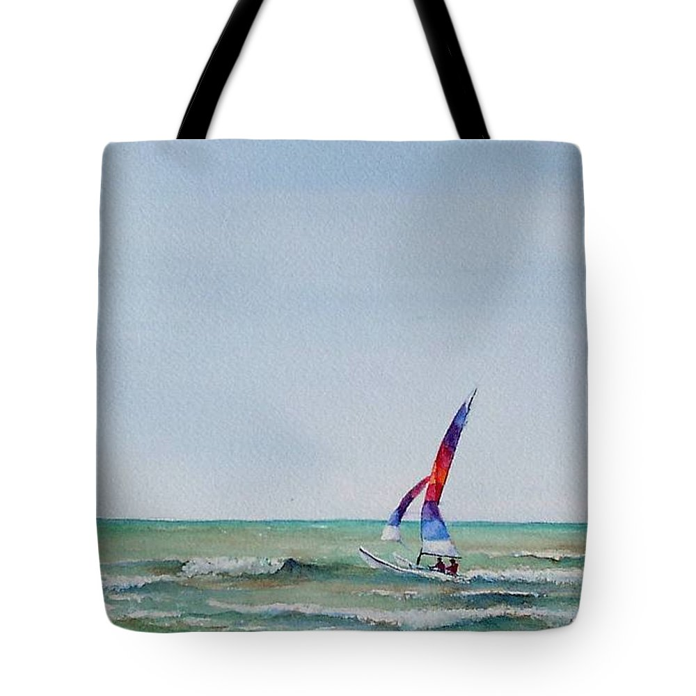 Boat Tote Bag featuring the painting Ipperwash Beach by Patricia Henderson
