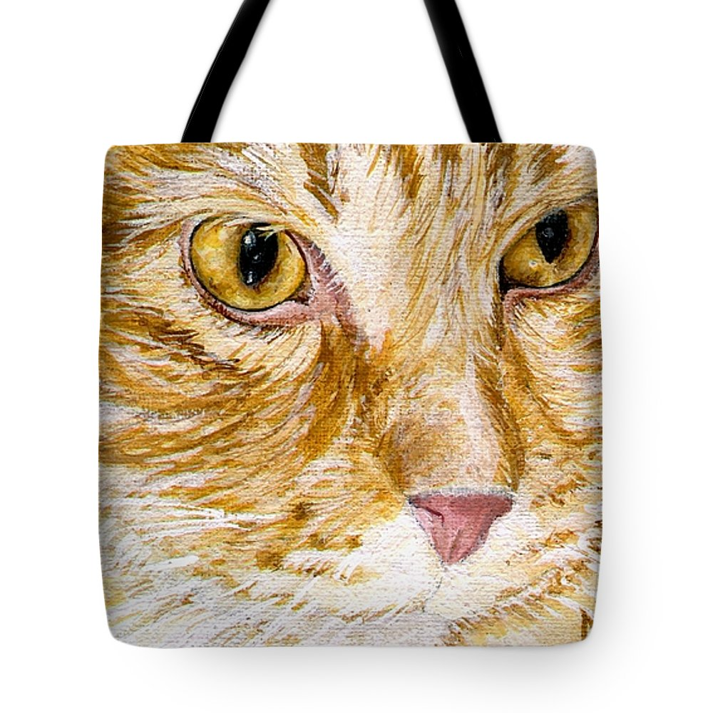 Charity Tote Bag featuring the painting Leo by Mary-Lee Sanders
