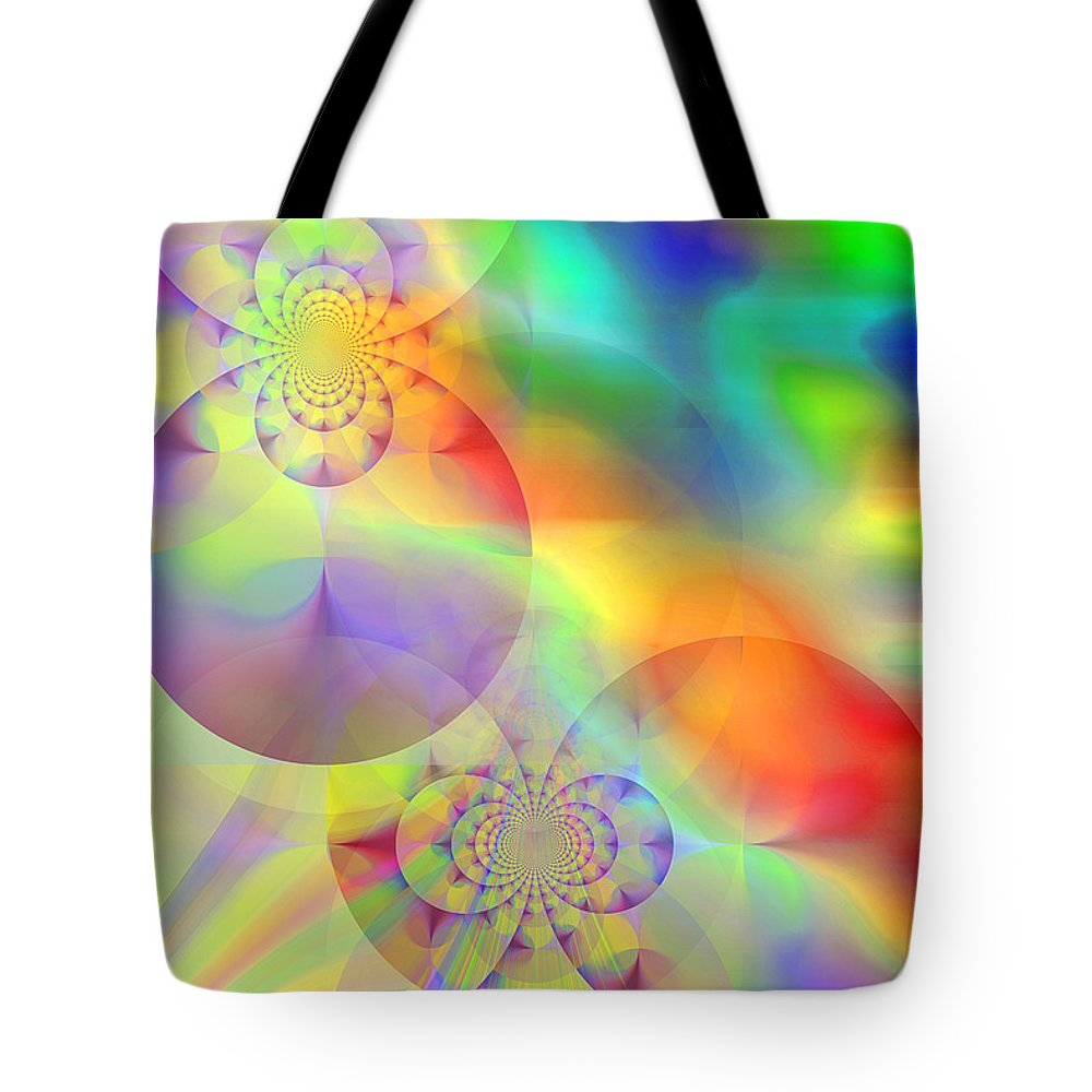 Abstract Tote Bag featuring the digital art Mind Over Matter by Ruth Palmer