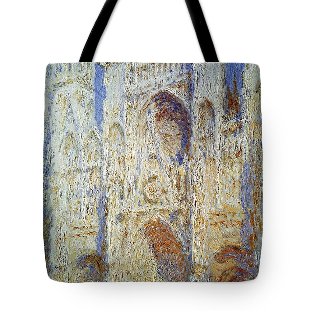19th Century Tote Bag featuring the photograph Monet: Rouen Cathedral by Granger