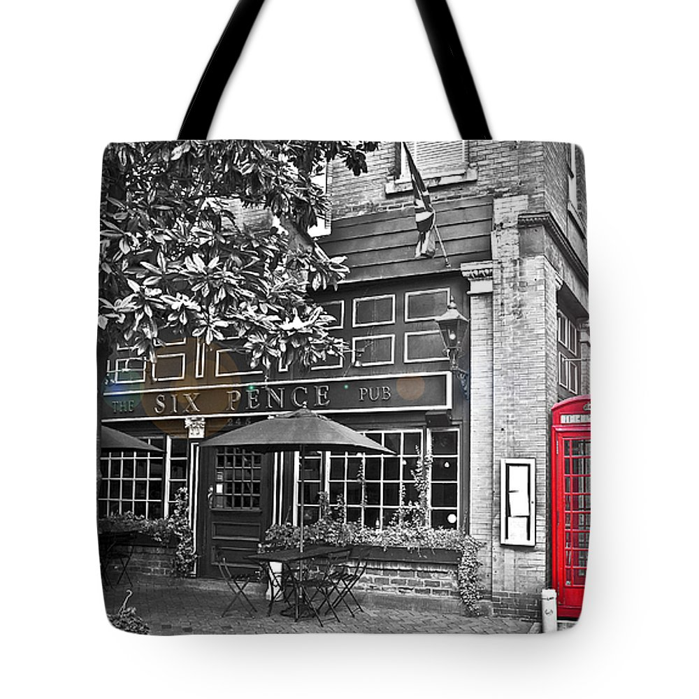 Pub Tote Bag featuring the photograph pub by Tammy Lee Bradley