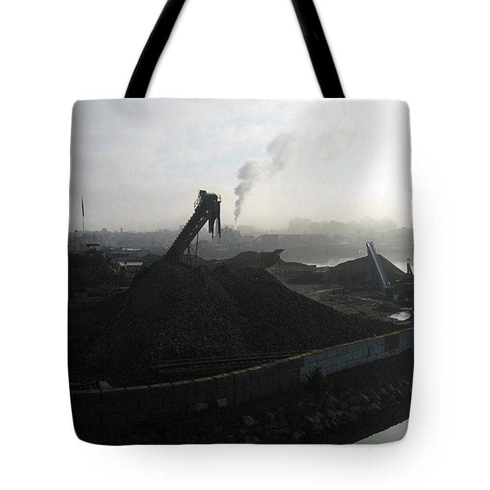 Photograph Ship Yard Ocean Water Victoria Tote Bag featuring the photograph Shipyard by Seon-Jeong Kim