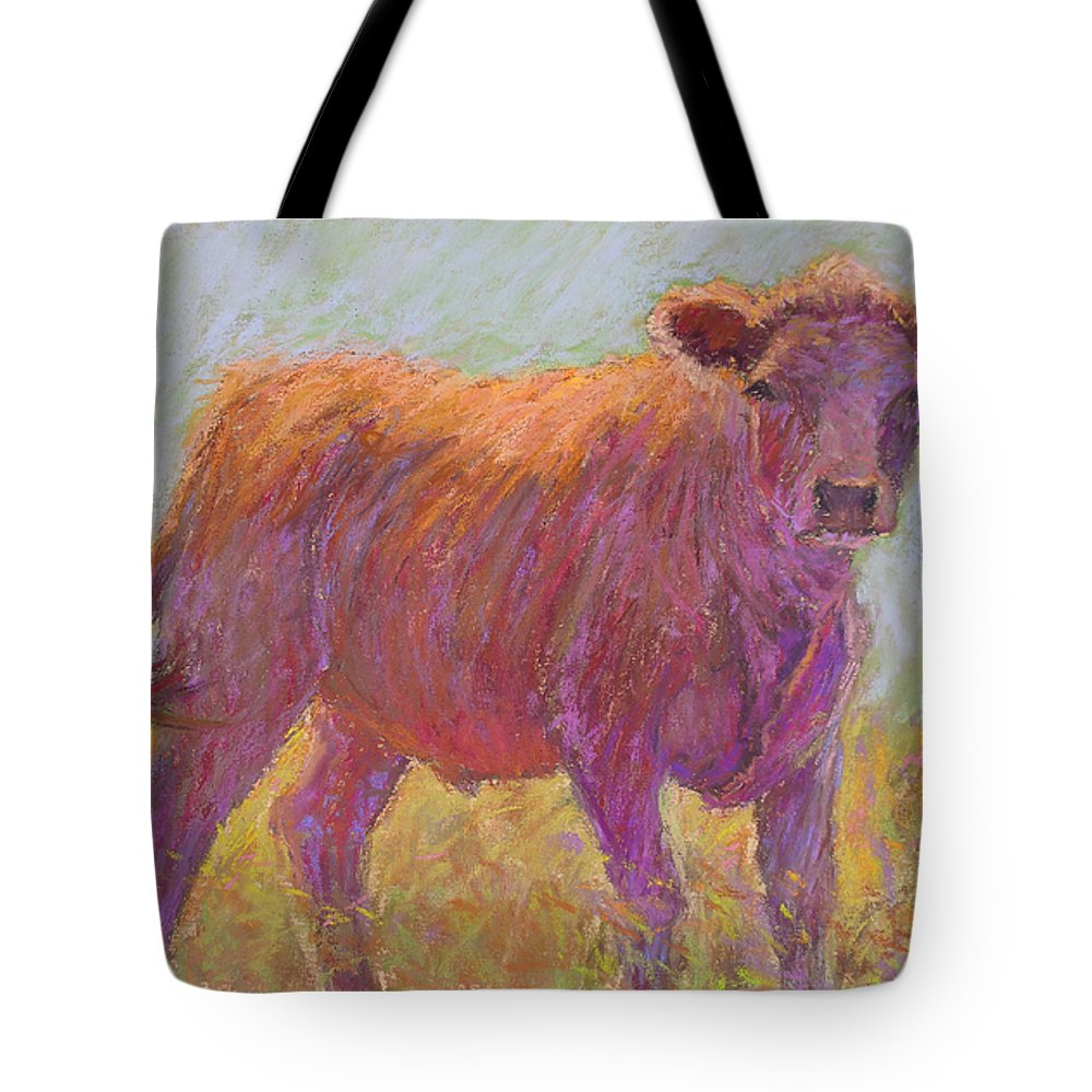 Cows Tote Bag featuring the painting The Scout by Susan Williamson