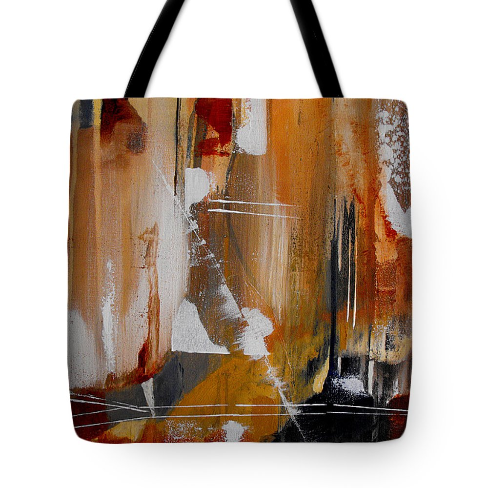 Abstract Tote Bag featuring the painting Turbulent Times II by Ruth Palmer
