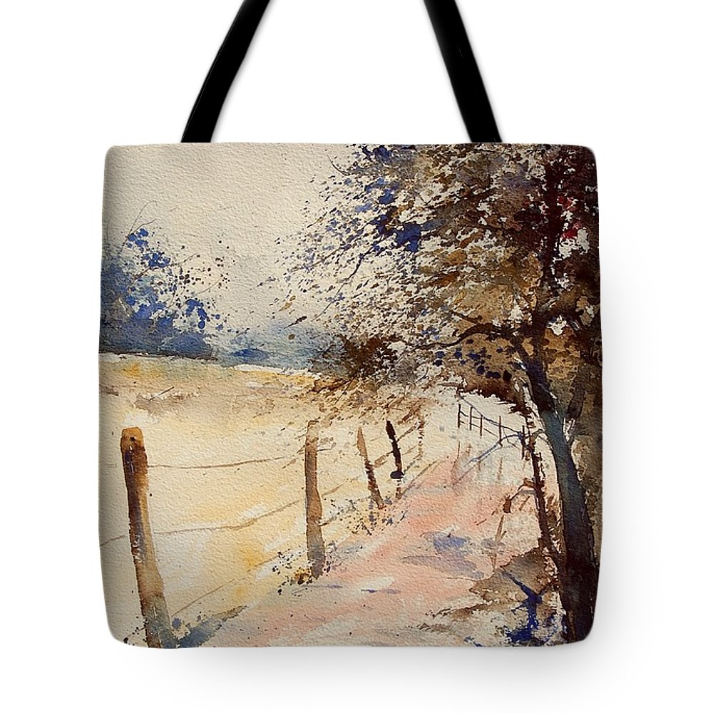 Tree Tote Bag featuring the painting Watercolor 041106 by Pol Ledent