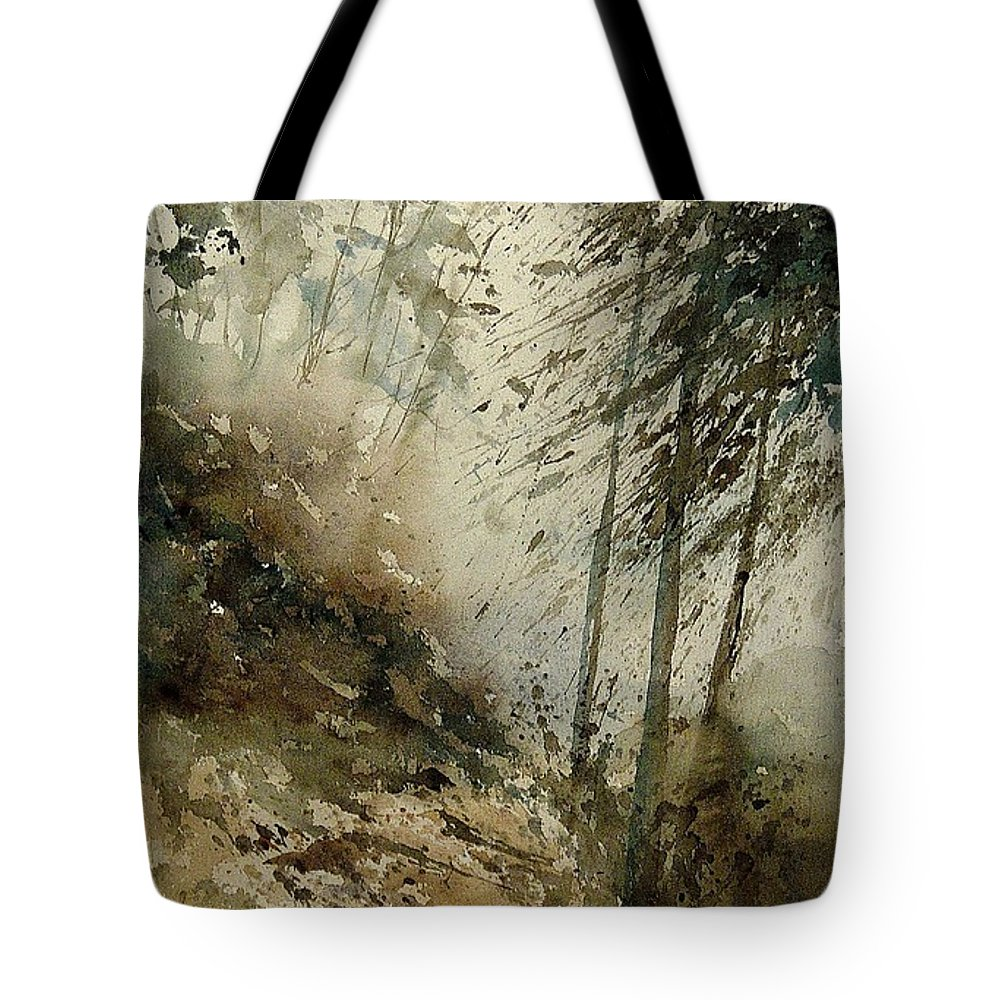 Tree Tote Bag featuring the painting Watercolor 271005 by Pol Ledent