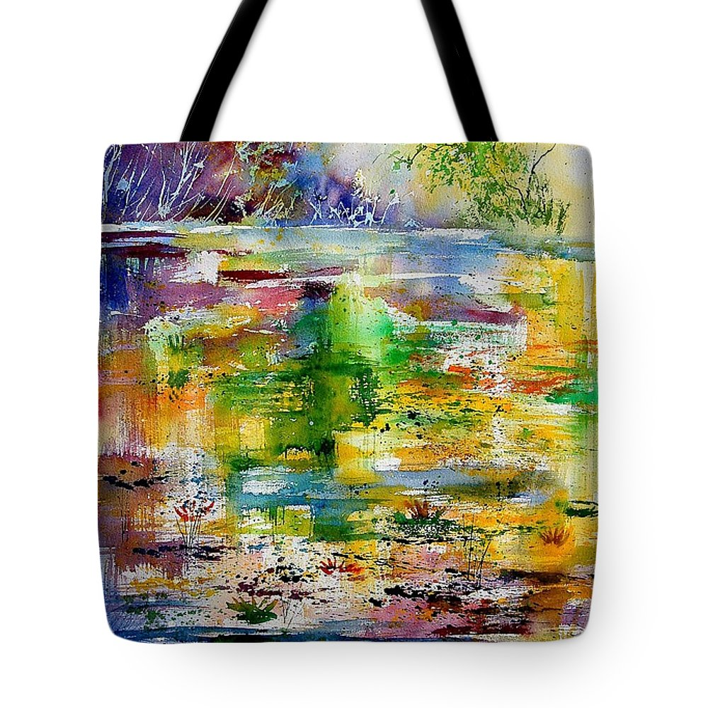 Water Tote Bag featuring the painting Watercolor 6878 by Pol Ledent