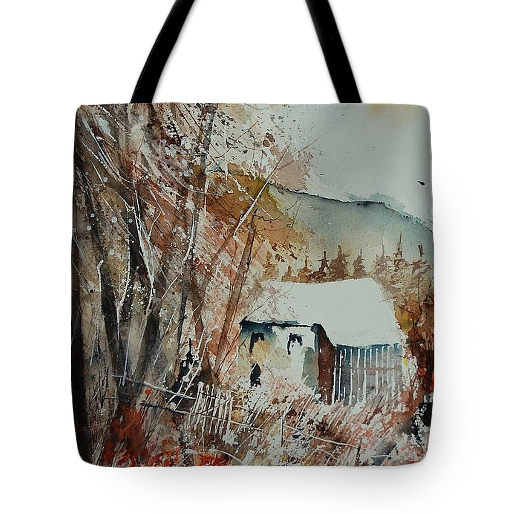 Tree Tote Bag featuring the painting Watercolor 902001 by Pol Ledent