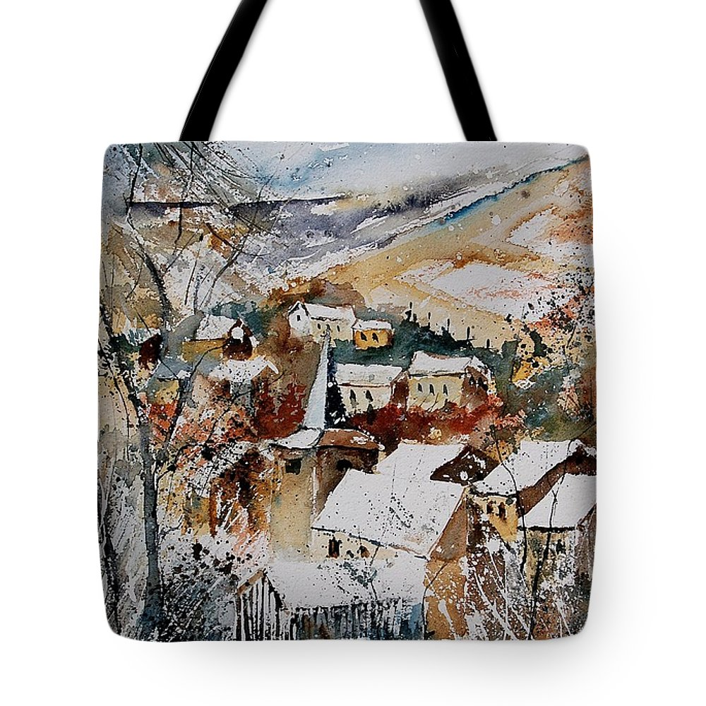 Winter Tote Bag featuring the painting Watercolor 904002 by Pol Ledent