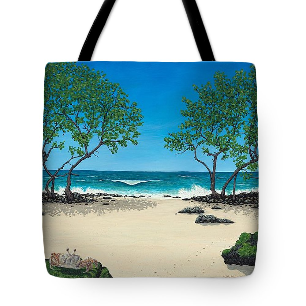 Ocean Tote Bag featuring the painting Where Is My Corona by Shawn Stallings