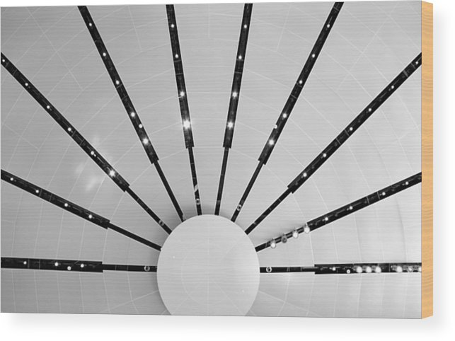 Ceiling Wood Print featuring the photograph Light Bursts by Kristin Elmquist
