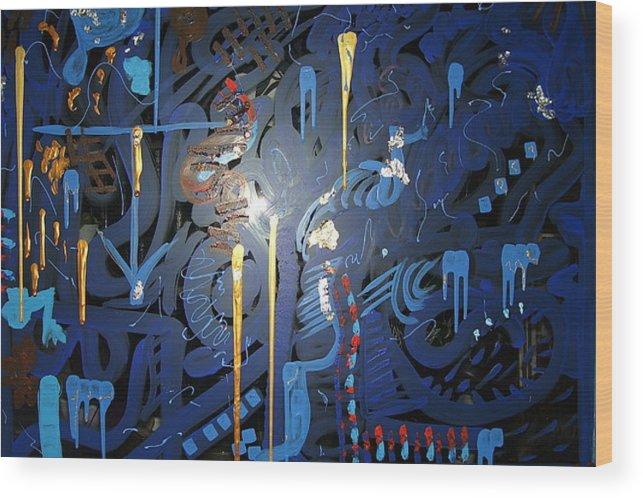 Art Wood Print featuring the painting Art Fusing 2 by Svetlana Vinokurtsev