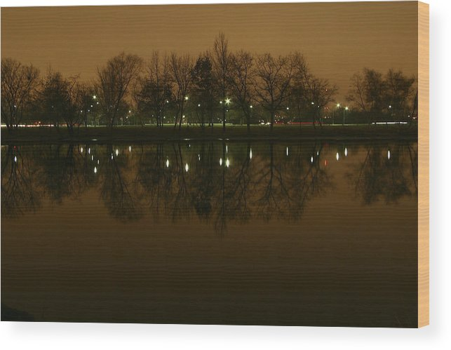 Jack Stock Wood Print featuring the photograph Charles River At Night by Jack Foley