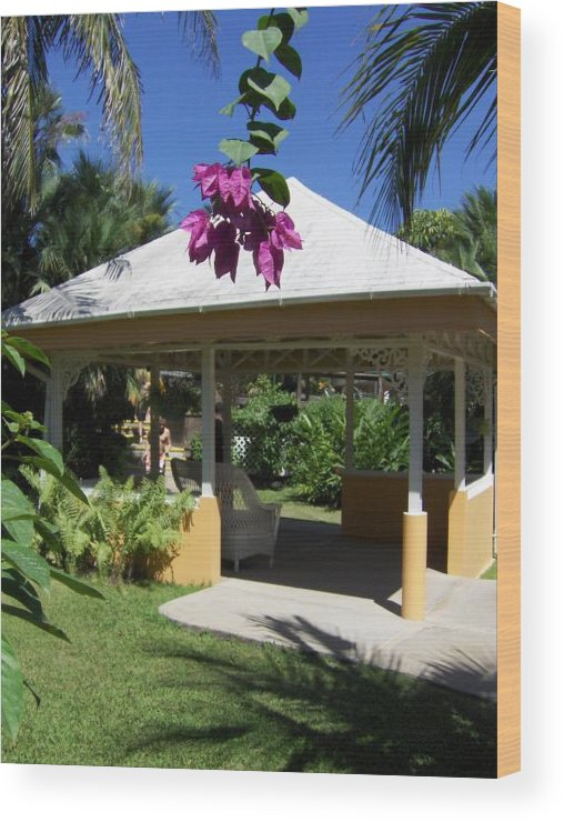 Gazebo Wood Print featuring the photograph Tranquility by J Andrel