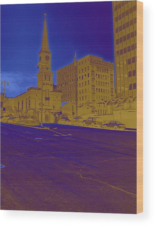 Church Wood Print featuring the digital art Random Church by John Bichler