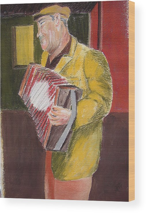 Figure Wood Print featuring the painting The Entertainer by Joe Lanni