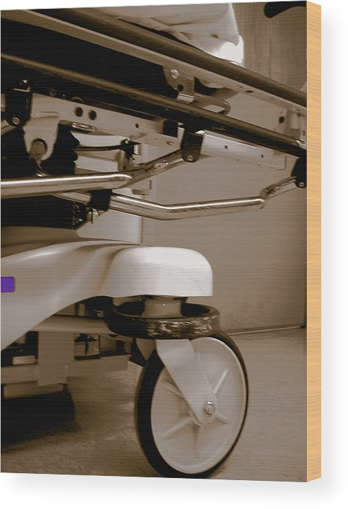 Hospital Wood Print featuring the photograph Wheel by Heather Weikel