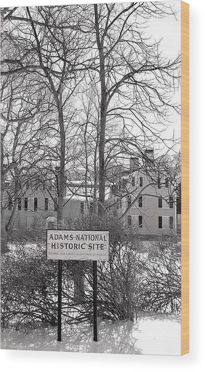John Quincy Adams Wood Print featuring the photograph John Quincy Adams House Ll by Heather Weikel