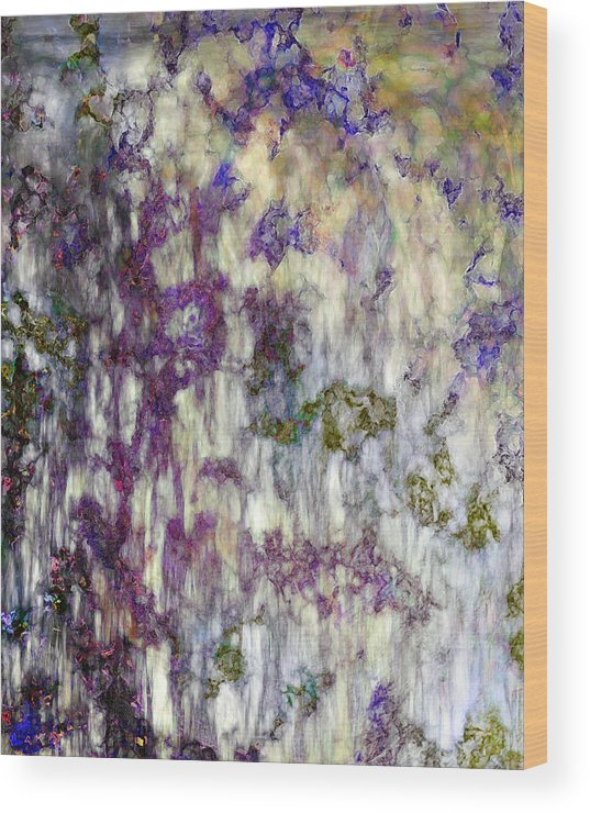 Abstract Wood Print featuring the digital art Petals In A Rainstorm by Gae Helton