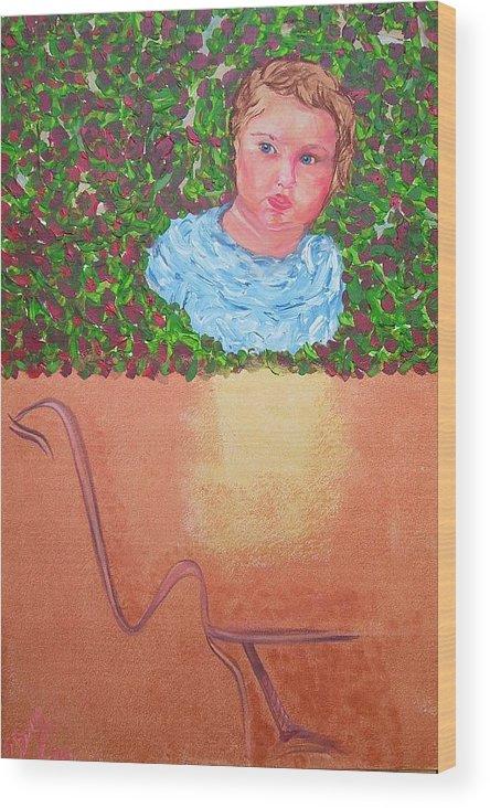 Art Wood Print featuring the painting Why They Love Us by Svetlana Vinokurtsev