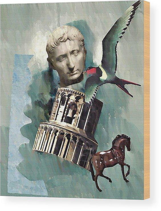 Classical Wood Print featuring the digital art Classical  by Sarah Loft