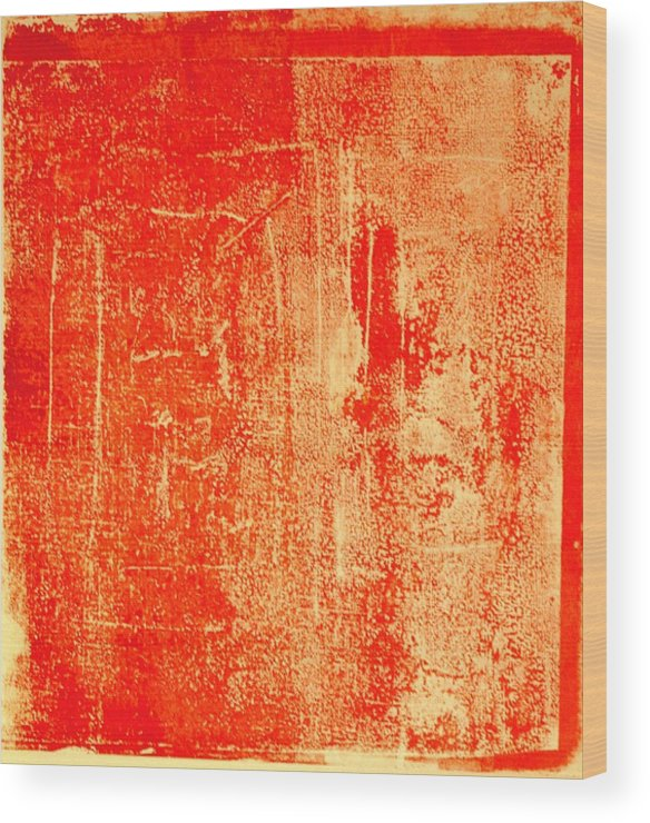 Orange Wood Print featuring the mixed media Orange No 34 by Susan Grissom