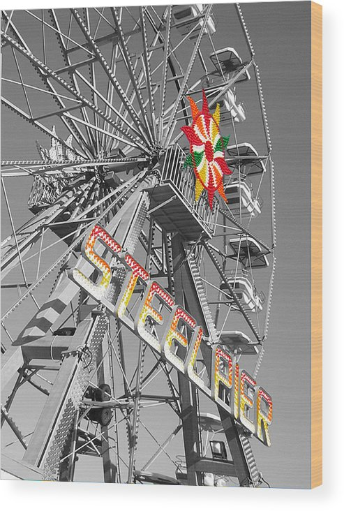 Steel Pier Wood Print featuring the photograph Steel Pier by Heather Weikel