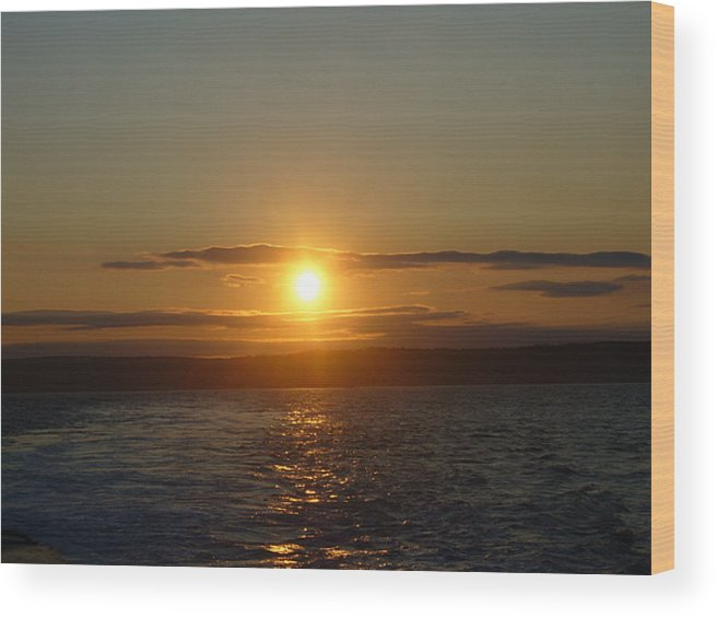 Sunset Wood Print featuring the photograph Sunset On The Horizon  1 by Sharon Stacey