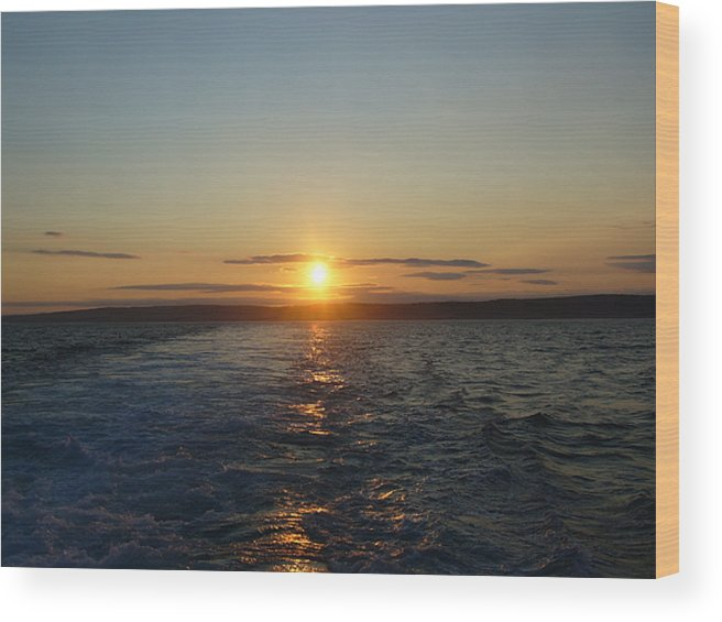 Sunset Wood Print featuring the photograph Sunset On The Horizon 2 by Sharon Stacey