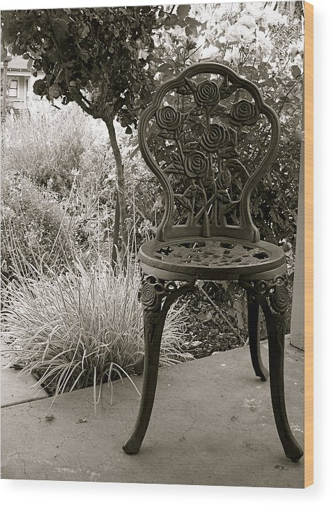 Garden Wood Print featuring the photograph Contemplation by Amy Strong