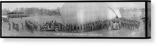Blimps Canvas Print - 1st Balloon Company Rhine Germany by Fred Schutz Collection