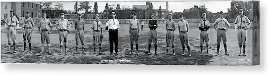 Cornell University Canvas Print - Cornell Baseball Team by Fred Schutz Collection