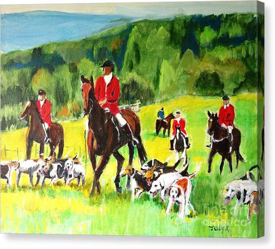 Countryside Hunt Canvas Print