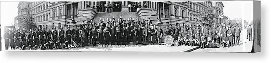 Marching Band Canvas Print - Fire Department Band Washington Dc by Fred Schutz Collection