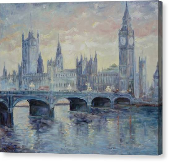 London Westminster Bridge Canvas Print