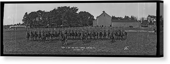 Police Officer Canvas Print - Troop G. N. Y. State Troopers Syracuse by Fred Schutz Collection