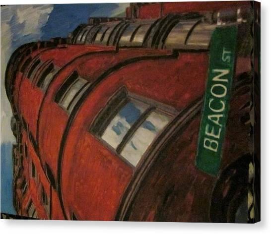 Beacon St Canvas Print by David Poyant