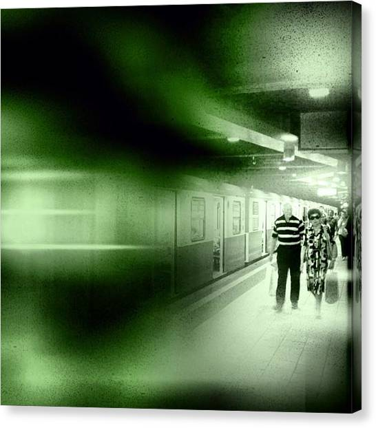 Jazz Canvas Print - Blur In The Tube #iphone #instagram by Roberto Pagani