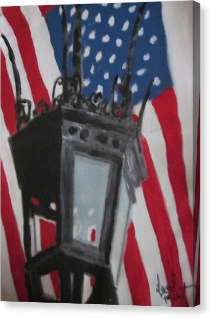 Boston Lightpost Canvas Print by David Poyant