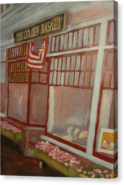 The Golden Basket Canvas Print by David Poyant