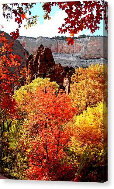 Autumn In Zion Canvas Print