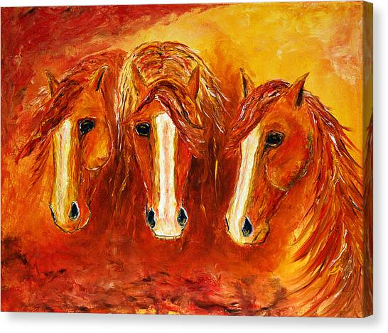 Fire Angels Canvas Print