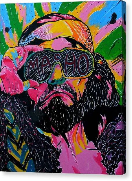 Wwe Canvas Print - Macho Man by Brian Typhair