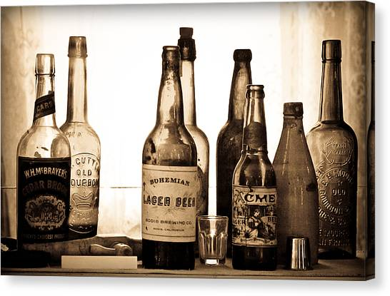 19th Century Liquor Bottles  Canvas Print