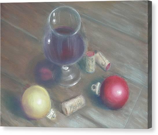 A Wine Christmas Canvas Print by Ellen Minter
