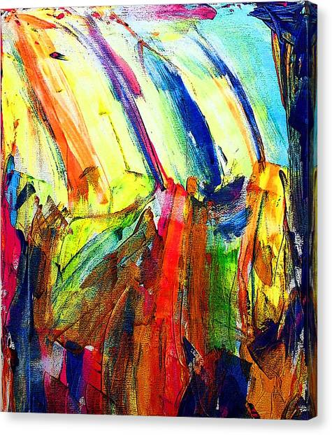 Abstract Colored Rain Canvas Print