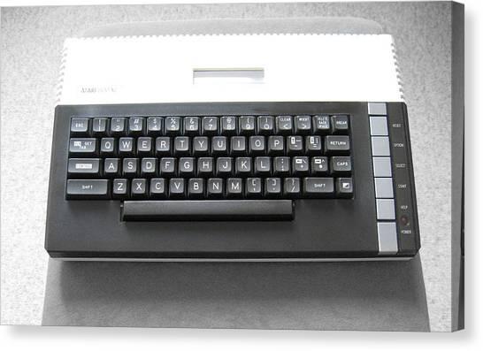Atari Canvas Print - atari 800XL by Super Lovely